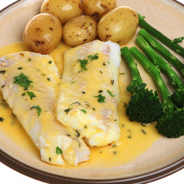 Lemon baked haddock with baby potatoes recipe for Healthy fish dinner