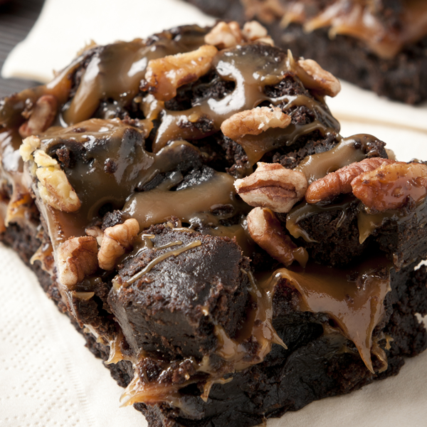 Nutty Caramel Brownies Recipe