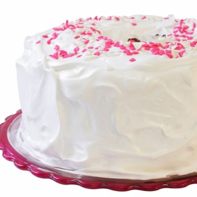 Angel food cake with fluffy white frosting recipe forumfinder Image collections