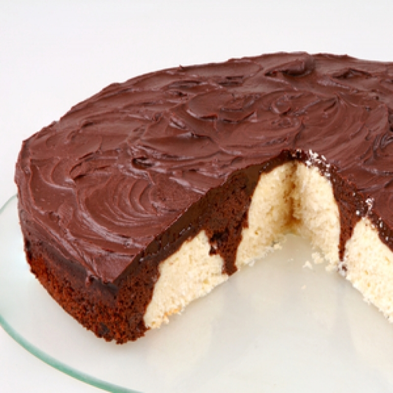Fudge Frosted Marble Cheesecake Recipe