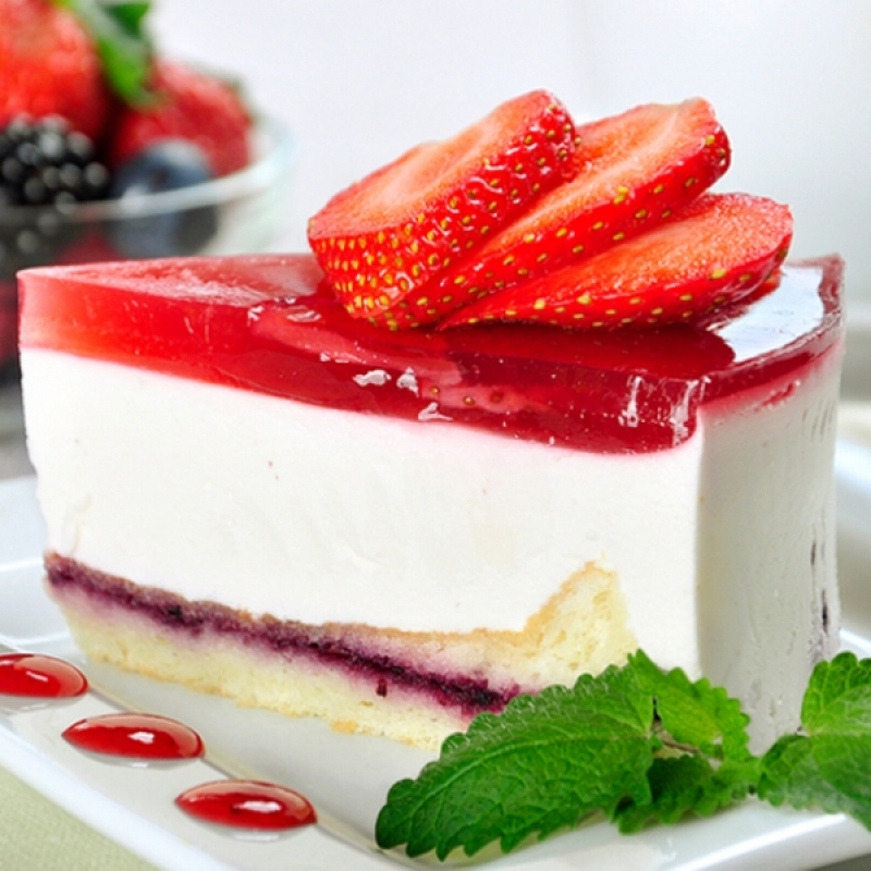 Strawberry Jello Marshmallow Cake