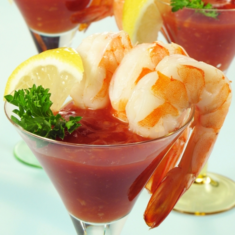 how to serve shrimp cocktail individually
