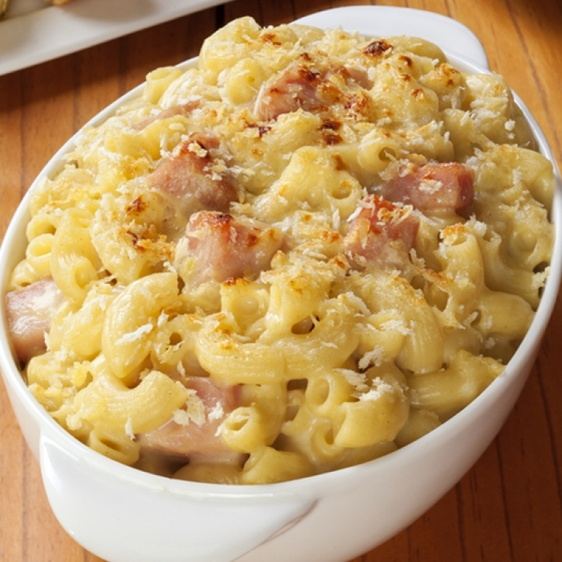 Ham Fettuccine Bake Recipe: Ham And Cheese Pasta Bake Recipe