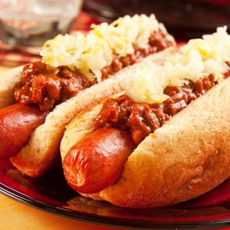 Hot Dogs In Frying Pan