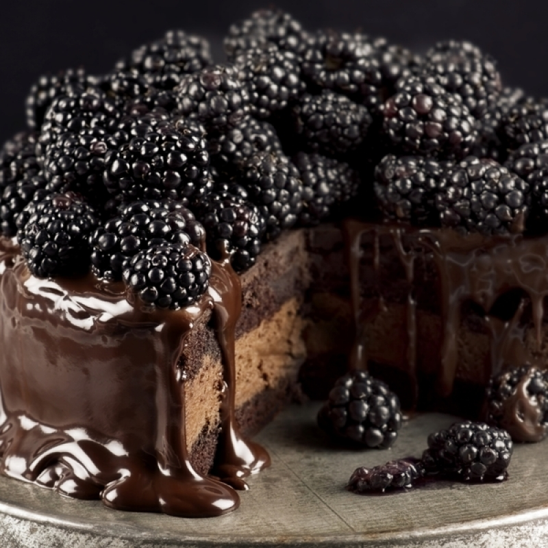 Chocolate Layered Blackberry Cake Recipe
