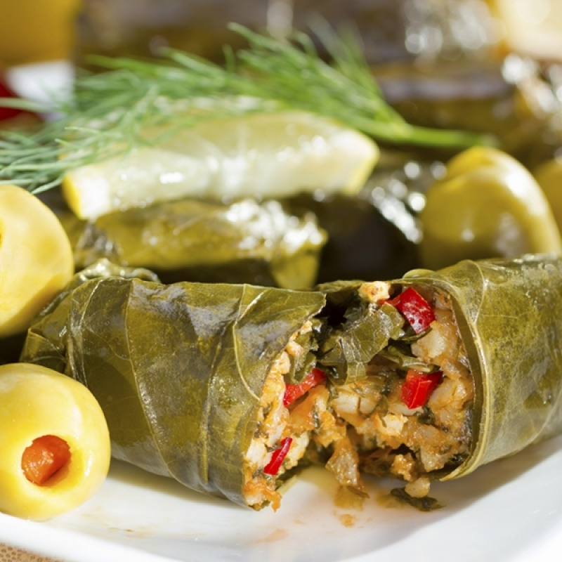Dolmades Stuffed Grape Leaves Recipe