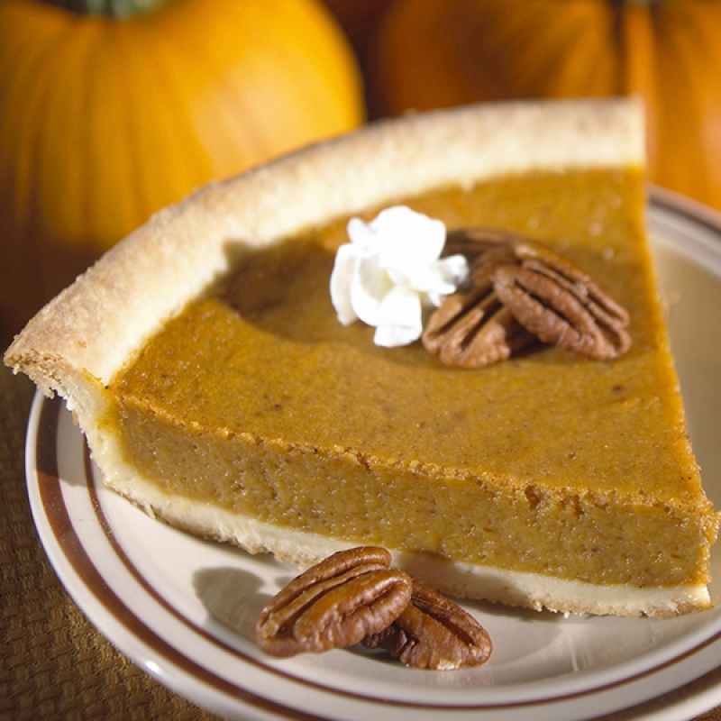 this pumpkin pecan pie recipe has finely ground pecans in the pumpkin ...