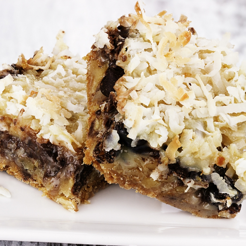 Coconut Chocolate Chip Squares Recipe