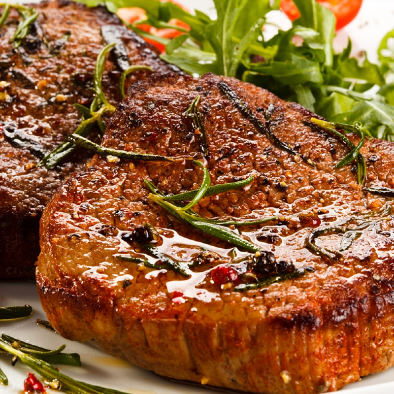 recipies on how to cook peppered eye steak