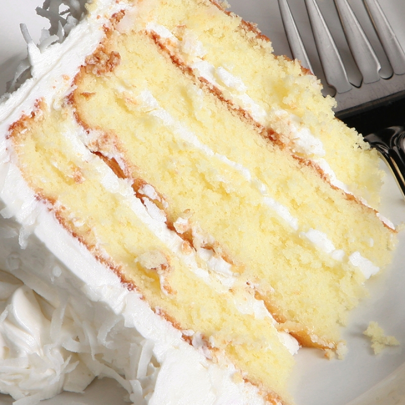 Vanilla Cake Recipe: Vanilla Cake With Vanilla Sour Cream Frosting Recipe