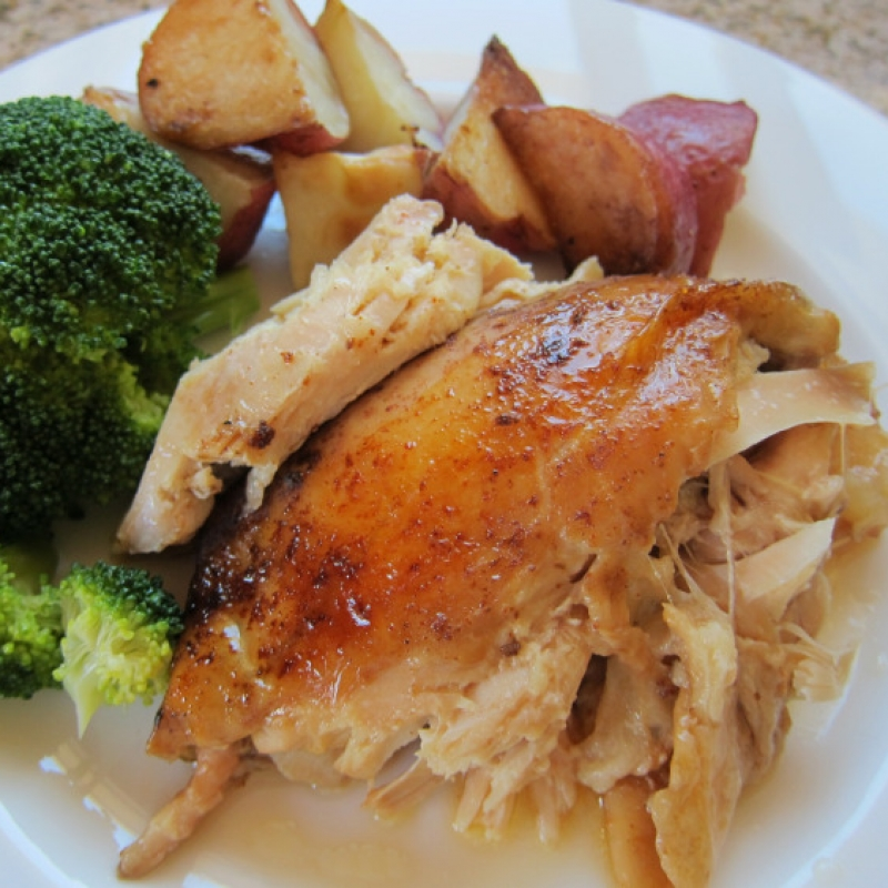 Slow Cooker Whole Roast Chicken Recipe