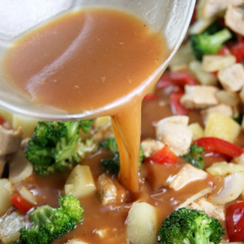 how to make sweet and sour stir fry